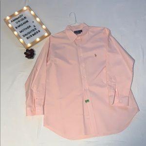 Ralph Lauren Polo Button Down Dress Shirt Classic